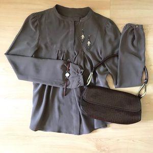 Vintage Italian silk blouse, s/m